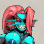 [2 of 2] Undyne, but in a Skimpy Outfit