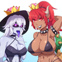 bowsette and princees king boo by waru-geli
