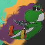 Bullet Time Yoshi by LunarDuck