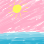 The Sea With The Pink Sky