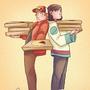 Glenn and Lawrence #2 - Pizzaboyzzz by dangerjazz