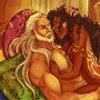 Ankhabut and LeBlanc by Ladycamafeo