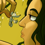 Kouini L' Aventurier (Kouini Mouse and Giantess) by Dangerking11