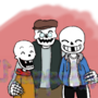Grandpa Semi and his grandkids (request)
