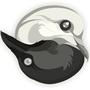 Ying Yang crowe dove by SmokeryDots