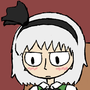 Youmu Looking Disappointed at a Pizza