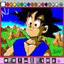 Goku en Mario Paint by finalfant111