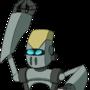 Some star wars robot with a gun