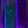 night foxes by Noxity