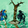 Link and Dark Link by AntiZombieKing