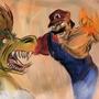 Mario vs Bowser by Tatsukamba