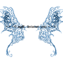 butterfly wings tattoo concept by half-d3mon