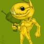 Alien Hominid Fan ARt by Fifty-50