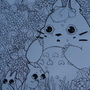 lineart of totoro by peachkuns