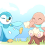 Piplup and Buneary