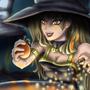 Cute Orange Witch