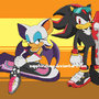 Sonic Riders Rouge ans Shadow