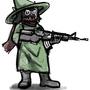 Ralsei with a gun