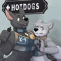 just a couple of hotdogs by Leosaeta