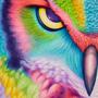 Great Horned Owl of Iris