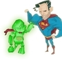 Steve vs. Superman by SmokeryDots