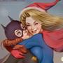 Batgirl and Supergirl Xmas