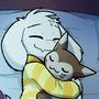 Asriel and a Furret