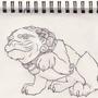 foo dog line art by MrCreeep