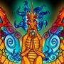 Inktoober Fei Dujiao Qilin Winged Dragon Unicorn Anthro