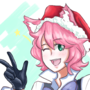 Christmas themed catgirl by CageZ