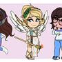 Chibi Overwatch Ladies by FairDahlia