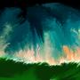 Bleeding Sky. by MissBisli