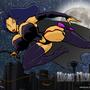 Night Mistress cityscape by ultrafem