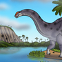Brontosaurus by the River