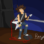 a guy rocks out by rorychally
