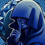 Blue diamond button