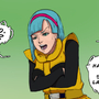 Bulma hiding Dragonball