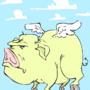 FLY'N PIGGY by MrCreeep