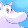 Moomin in Blue
