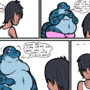 gecko lady and BF comic