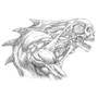 Skull creature Line version