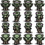 Cyber Police Sprite Sheet by BeatEmorBurnEm