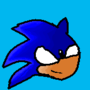 My first Sonic drawing by SpinDash