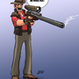 TF2 Sniper by mongoid