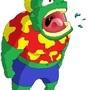 Green man with Hawaiian shirt by axl-ryder
