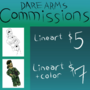 DareArms Commission Sheet