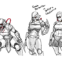 Steampunk Comic Character Concept: Valkyrie Berserker by DiscreteTurtle