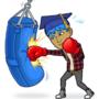 My Snapchat Person Punching A Punching Bag