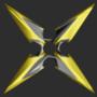 Shuriken Black Gold
