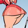 Golfing Around - Cartoon PinUp Commission